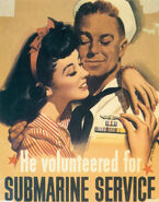 He volunteered for Submarine Service For Her! Fontaine-Vac