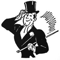 Gentleman Tipping His Hat And Carrying A Cane Clip Art Haas Classy Clothes Ad