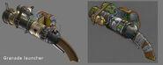 Grenade Launcher Model & Concept Art