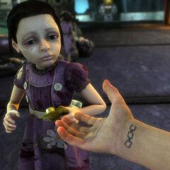 Little Sister al final de BioShock.