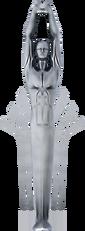 Deco male statue with fan