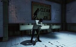 BioI Battleship Bay Arcade Colored & Irish Washroom Attendant