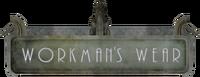 Workman's Wear sign