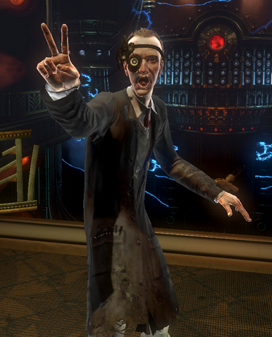 File:BioShock 2-Reed Wahl encountered in The Thinker - V sign f0369.png