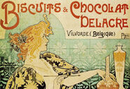 Henri Privat-Livemont - Biscuits & Chocolat Delacre Poster 1896