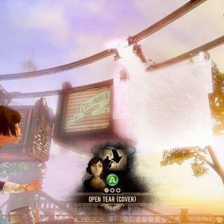 En la demo mostrada en el E3 de 2011, siendo tomado de un desgarro.