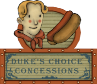 Duke's Choice Concessions sign