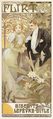 Alphonse Mucha - Flirt Biscuits Lefèvre-Utile Poster 1899.png