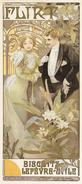 Alphonse Mucha - Flirt Biscuits Lefèvre-Utile Poster 1899