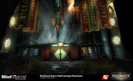 BioShock The Collection Welcome Center Atrium Paintover-Concept Art