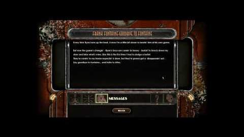 Bioshock 2 Frank Fontaine - Audio Diaries