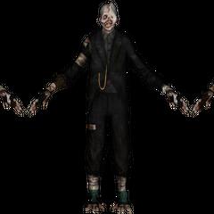 <i>Modelo del Crawler con vestimenta formal visto dentro del juego.</i>