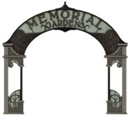 Memorial Gardens sign