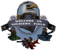 Welcome to Soldier's Field sign