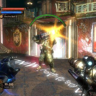 <i>Un Lancero a punto de usar su habilidad especial: el haz de luz.</i>
