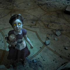 Little Sister en el tráiler de BioShock 2.