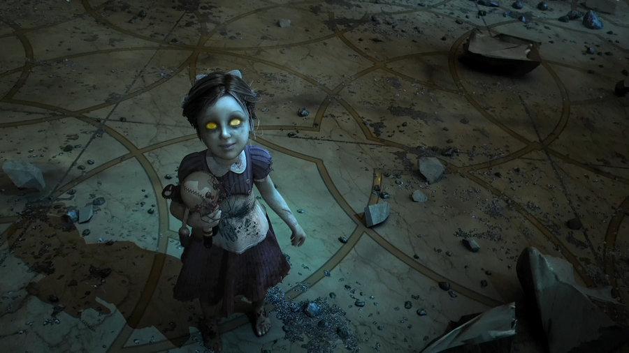 Imagen little sister trailer bioshock wiki for Bioshock jardin de las recolectoras