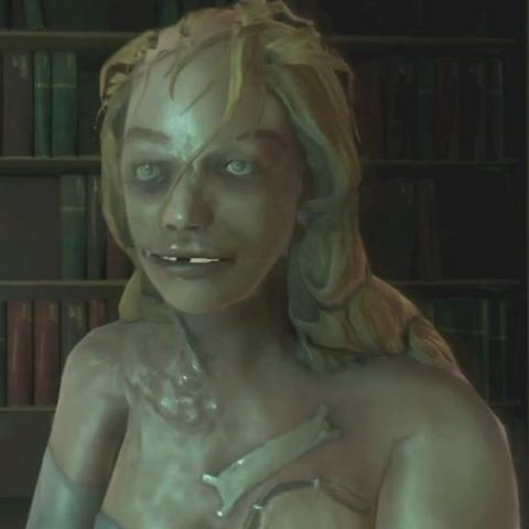 La cara de splicer de Blanche en el juego.