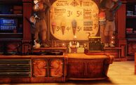 BioI Soldier's Field Dimwit & Duke Ice Cream Shoppe Main Counter & Ice Cream Vendor