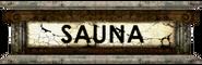 Adonis Sauna sign
