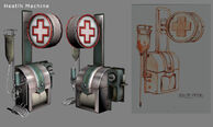 Health Station Model and Concept Art