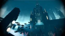La Fontaine Futuristics vista dall'oceano