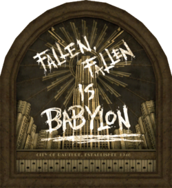 Fallen Fallen is Babylon mural