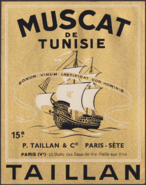 Muscat de Tunisie wine label
