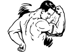Strongman Clip Art William Strong Vitamins Label