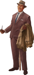 Cut Out Businessman Model Render