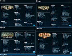 BioShock Wiki-Main Portal Comparison