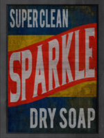 Sparkle Dry Soap sign