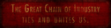 The Great Chain Of Industry Ties And Unites Us. Banner