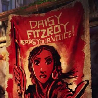 Daisy en los carteles con cara generosa.