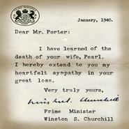 Porter Churchill Letter