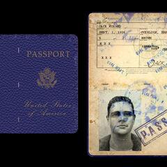 <i>Pasaporte de Jack (no utilizado en el juego).</i>