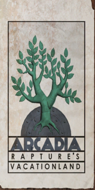 Arcadia Rapture's Vacationland Tree Poster