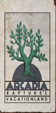 Arcadia Rapture's Vacationland Tree Poster