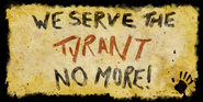 We Serve The Tyrant No More! Banner