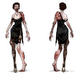 <i>Diseño conceptual de la Baby Jane vista en BioShock 2.</i>