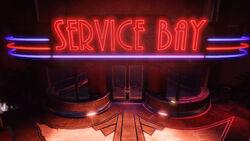 Service Bay Entrance