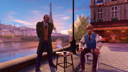 Burial at Sea Episode 2 Scripted Events Paris greeter