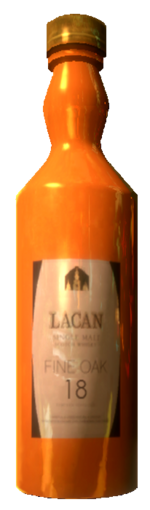 Lacan Scotch bottle.