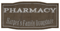 Harper's Family Drugstore sign.png