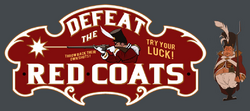 Removed Defeat the Red Coats Sign & Cutout