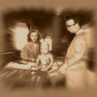Suchong y Tenenbaum realizando experimentos con Jack.