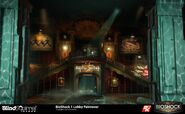 BioShock The Collection Torrance Hall Lounge Paintover-Concept Art