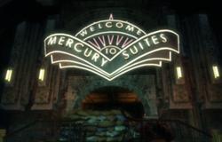 L'ingresso a Mercury Suites