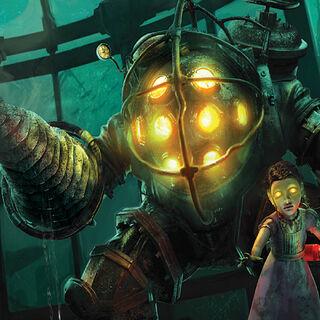 Ilustración de Big Daddy y Little Sister.