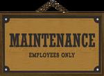 BD Maintenance sign